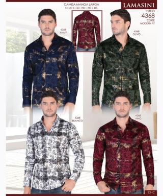 Camisa Vaquera Lamasini 4368-Navy-Olivo-Blanco-Vino