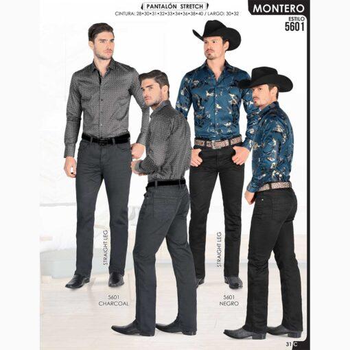 Pantalon Vaquero Montero 5602 Cafe Negro estilos nuevos